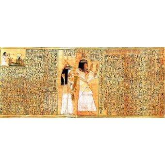 quadros étnicos e orientais - Quadro -Libro de los muertos (de Ani): Osiris- - _Anónimo Egipcio