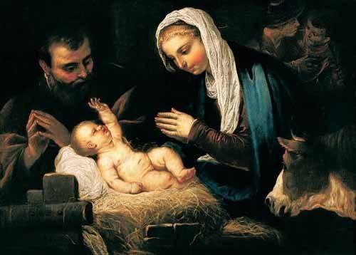 religious paintings - Picture -La Sagrada Familia- - Tintoretto, Jacopo Robusti