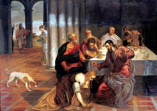cuadros religiosos - Cuadro -La conversión de Magdalena- - Tintoretto, Jacopo Robusti