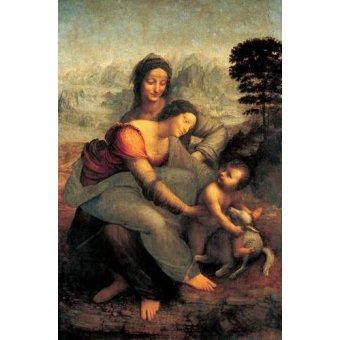 quadros religiosos - Quadro -La Virgen, el Niño y Santa Ana con un cordero- - Vinci, Leonardo da