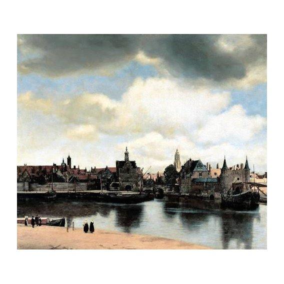 pinturas de paisagens - Quadro -Vista de Delft-