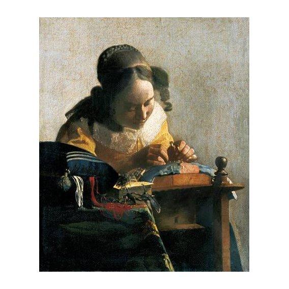 pinturas do retrato - Quadro -La encajera-