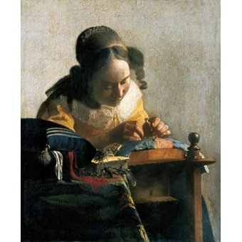 - Quadro -La encajera- - Vermeer, Johannes
