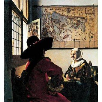 - Quadro -Soldado y joven sonriente- - Vermeer, Johannes