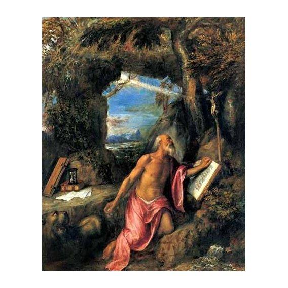 religious paintings - Picture -San Jerónimo en penitencia-