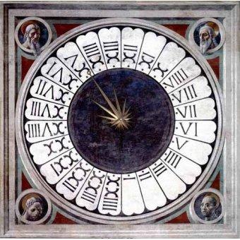 quadros religiosos - Quadro -Reloj Canónico- - Uccello, Paolo