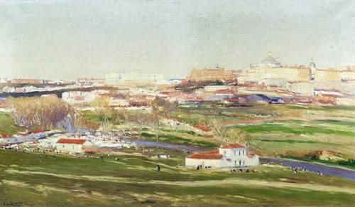 quadros-de-paisagens - Quadro -Pradera de San Isidro - Madrid- - Beruete, Aureliano de