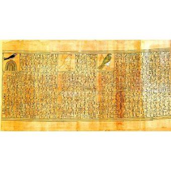 quadros étnicos e orientais - Quadro -Libro de los muertos (de Ani): Ani como diferentes aves- - _Anónimo Egipcio