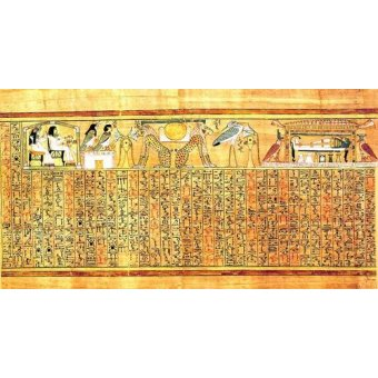 quadros étnicos e orientais - Quadro -Libro de los muertos (de Ani): Ayer y hoy- - _Anónimo Egipcio