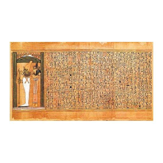 cuadros etnicos y oriente - Cuadro -Libro de los muertos (de Ani): Osiris e Isis-