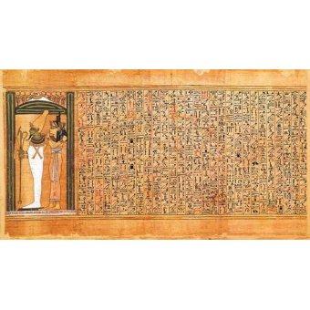quadros étnicos e orientais - Quadro -Libro de los muertos (de Ani): Osiris e Isis- - _Anónimo Egipcio