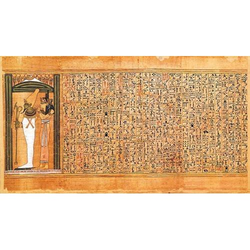 ethnic and oriental paintings - Picture -Libro de los muertos (de Ani): Osiris e Isis-