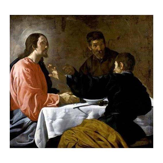 imagens religiosas - Quadro -La cena en Emmaus-