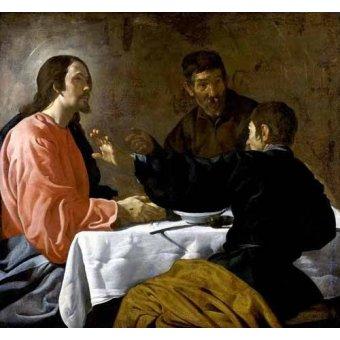 quadros religiosos - Quadro -La cena en Emmaus- - Velazquez, Diego de Silva