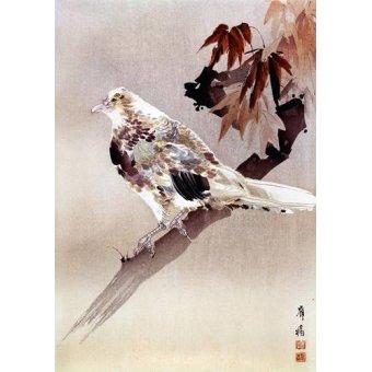 quadros étnicos e orientais - Quadro -Pájaro de cuerpo rechoncho- - _Anónimo Chino