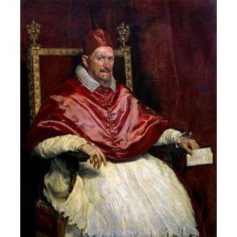 quadros religiosos - Quadro -Retrato del Papa Inocencio- - Velazquez, Diego de Silva