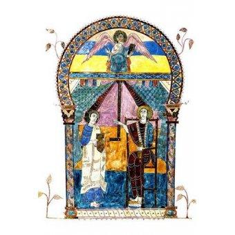 quadros religiosos - Quadro -Beato de Liébana, codice de Gerona- - _Anónimo Español