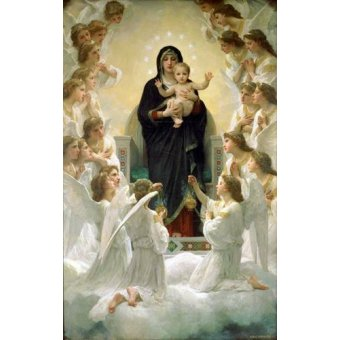 quadros religiosos - Quadro -La Virgen y angeles- - Bouguereau, William