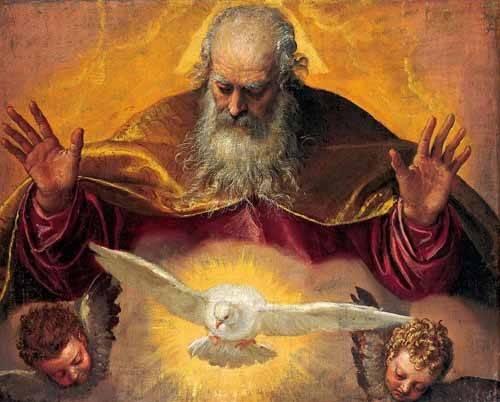 quadros-religiosos - Quadro -El Padre Eterno- - Veronese, Paolo