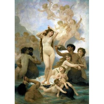 pinturas de retratos - Quadro -El nacimiento de Venus- - Bouguereau, William