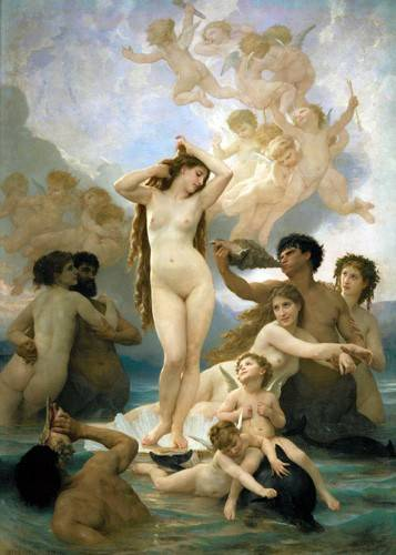 pinturas-de-retratos - Quadro -El nacimiento de Venus- - Bouguereau, William