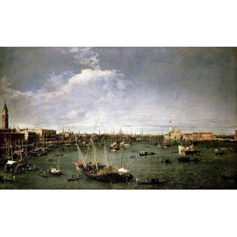- Quadro -La dársena de San Marcos- - Canaletto, Giovanni A. Canal