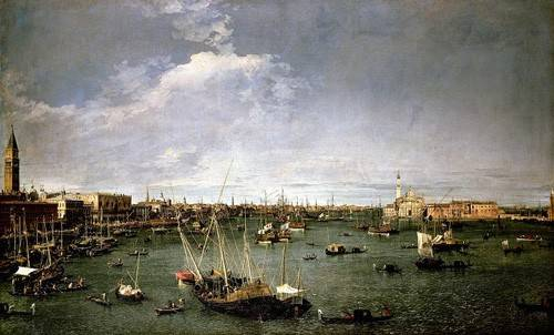 quadros-de-paisagens - Quadro -La dársena de San Marcos- - Canaletto, Giovanni A. Canal