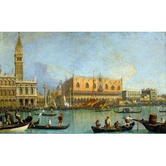 - Quadro -La Mole vista desde San Marcos- - Canaletto, Giovanni A. Canal