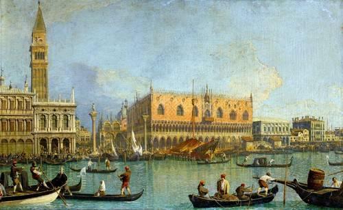 quadros-de-paisagens - Quadro -La Mole vista desde San Marcos- - Canaletto, Giovanni A. Canal
