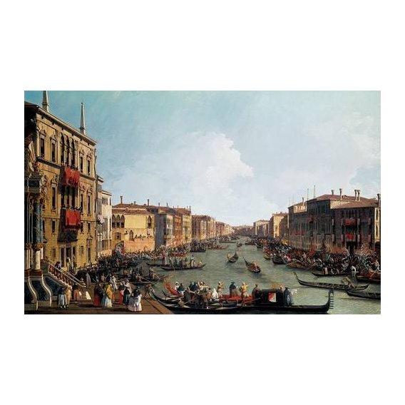 pinturas de paisagens - Quadro -Las regatas sobre el Gran Canal-