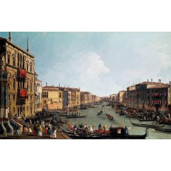 - Quadro -Las regatas sobre el Gran Canal- - Canaletto, Giovanni A. Canal