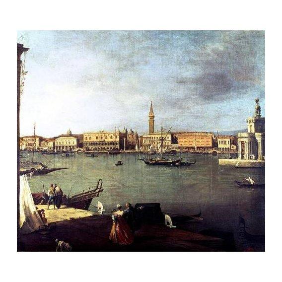 pinturas de paisagens - Quadro -Dársena de San Marcos desde la Giudeca-