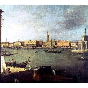 - Quadro -Dársena de San Marcos desde la Giudeca- - Canaletto, Giovanni A. Canal