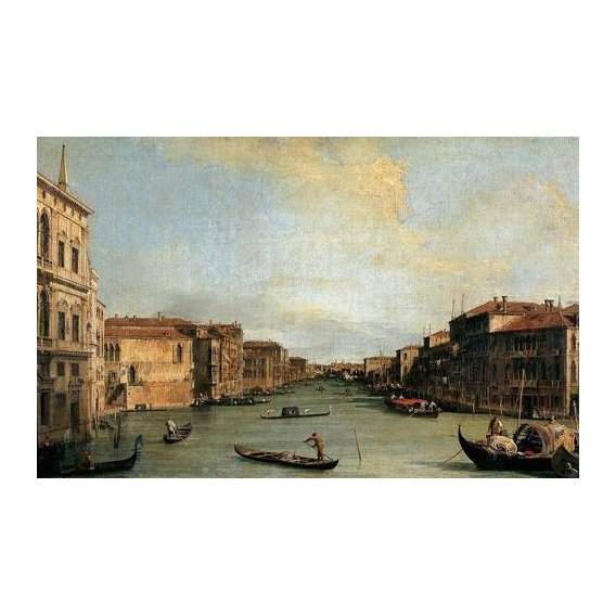 pinturas de paisagens - Quadro -Canal Grande en Rialto-