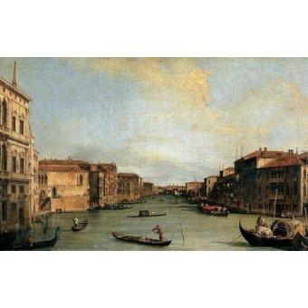 - Quadro -Canal Grande en Rialto- - Canaletto, Giovanni A. Canal