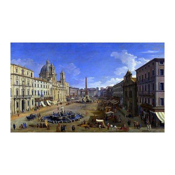 pinturas de paisagens - Quadro -Roma, vista desde la Piazza Navona-