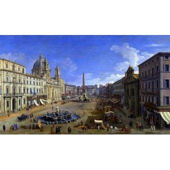 - Quadro -Roma, vista desde la Piazza Navona- - Canaletto, Giovanni A. Canal