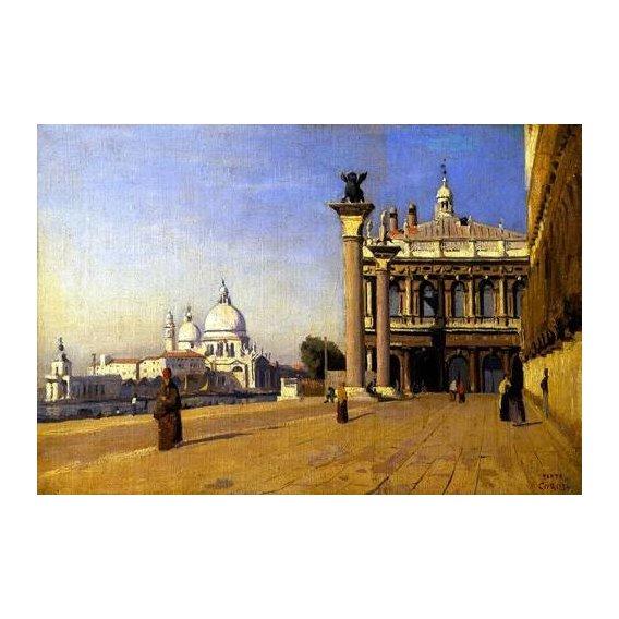 pinturas de paisagens - Quadro -La mañana en Venecia-