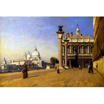 - Quadro -La mañana en Venecia- - Corot, J. B. Camille