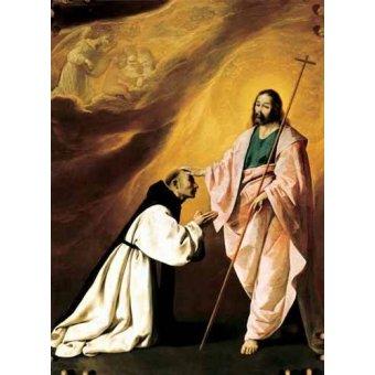 quadros religiosos - Quadro -Aparición de Cristo al Padre Salmerón- - Zurbaran, Francisco de