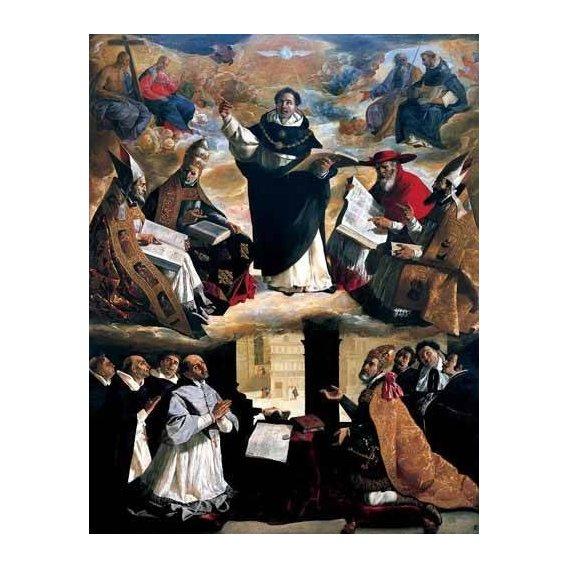 cuadros religiosos - Cuadro -Apoteosis de Santo Tomás de Aquino-