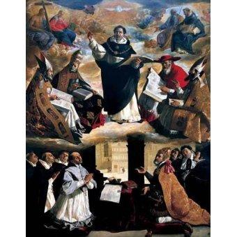 - Quadro -Apoteosis de Santo Tomás de Aquino- - Zurbaran, Francisco de