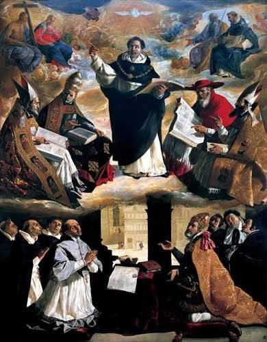 religious paintings - Picture -Apoteosis de Santo Tomás de Aquino- - Zurbaran, Francisco de