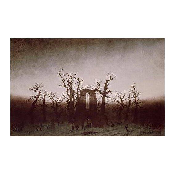 pinturas de paisagens - Quadro -Abbey in the Oakwood, 1810-