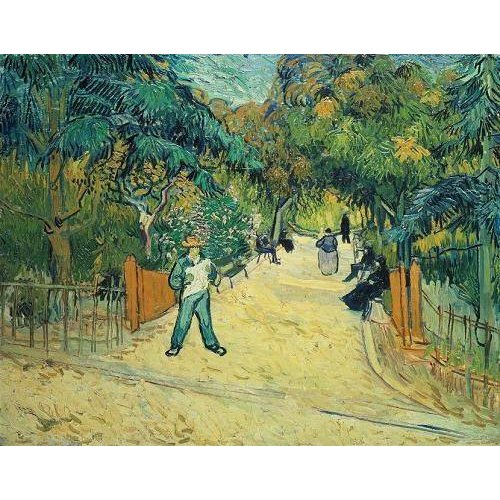 pinturas de paisagens - Quadro -Entrance to the Public Gardens in Arles, 1888-