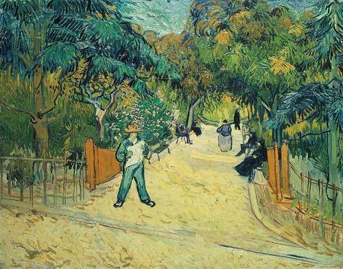 quadros-de-paisagens - Quadro -Entrance to the Public Gardens in Arles, 1888- - Van Gogh, Vincent