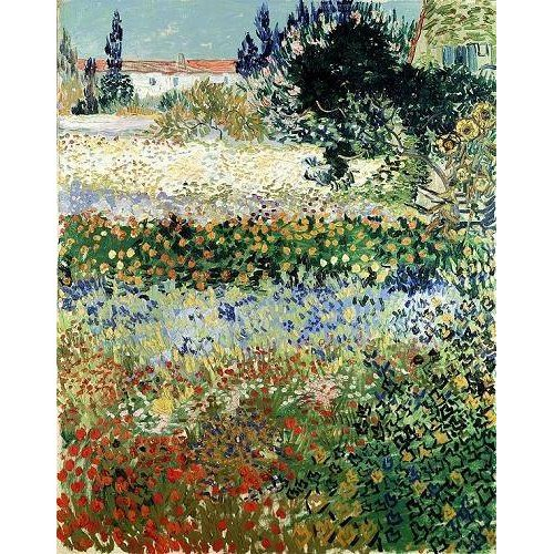 Quadro -Garden in Bloom, Arles, 1888-