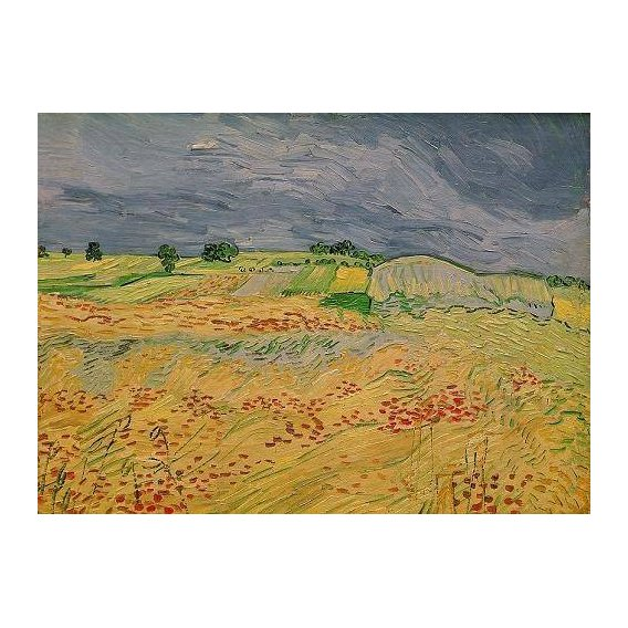 pinturas de paisagens - Quadro -Plain at Auvers, 1890-