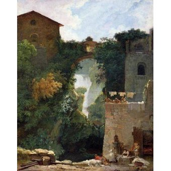 quadros de paisagens - Quadro -The Falls of Tivoli (oil on canvas).- - Fragonard, Jean Honoré