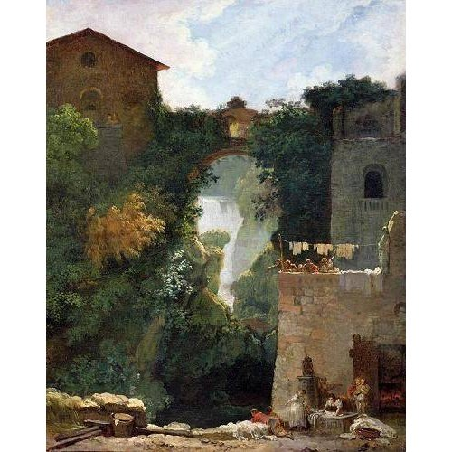 Quadro -The Falls of Tivoli (oil on canvas).-